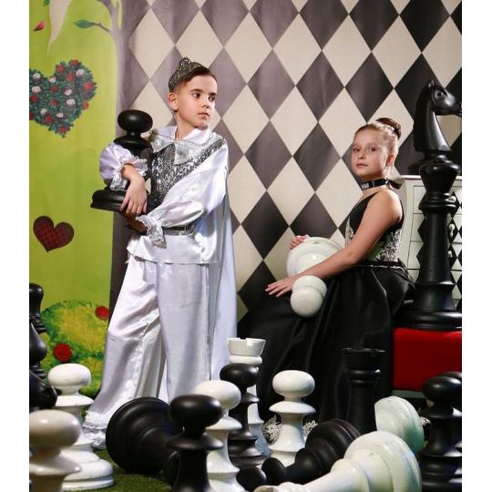 Карнавальный костюм Пешка белая для мальчика