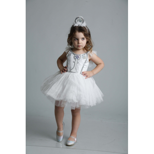 Карнавальный костюм Пешка белая для девочки