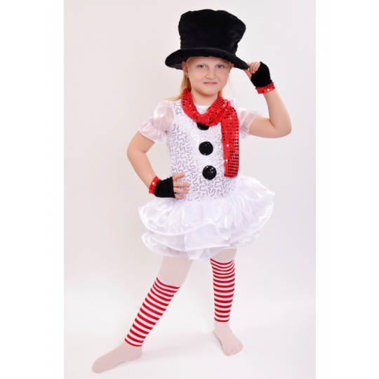 Карнавальный костюм Снеговик - девочка №5