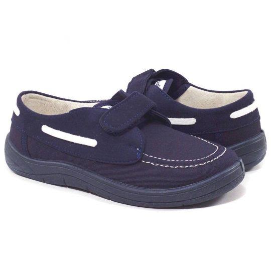 Туфли текстильные Топ-сайдери 12-030-2 синяя подошва