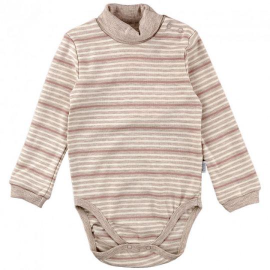Боди - гольф детский коричневый БД27(полоска)