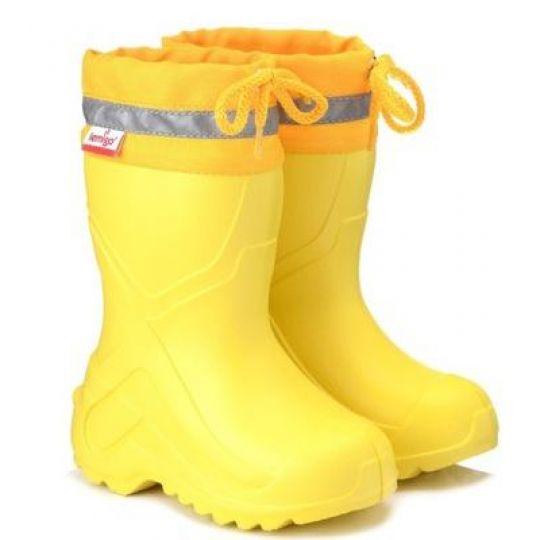 Сапоги резиновые EVA Lemigo Camp762 желтые