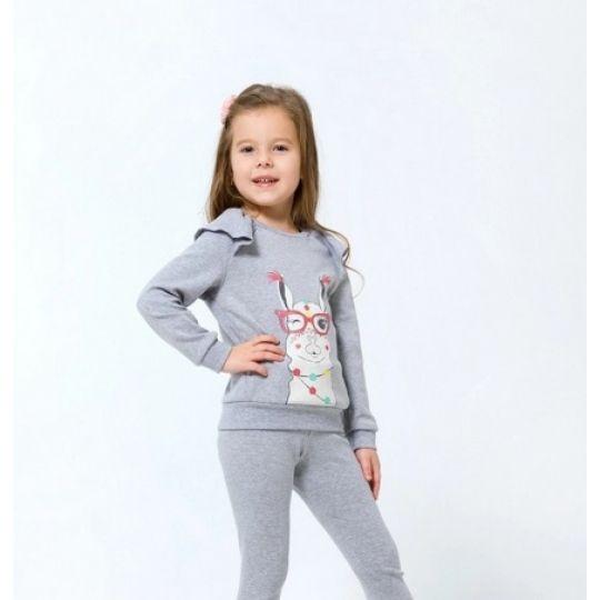 Свитшот для девочки серый 116432