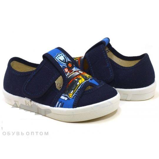 Туфли текстильные Robert машина синие
