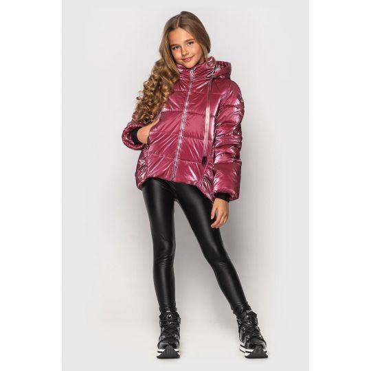 Куртка Терри пурпурно -розовая