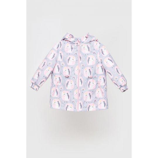 Куртка Эбби серо розовая