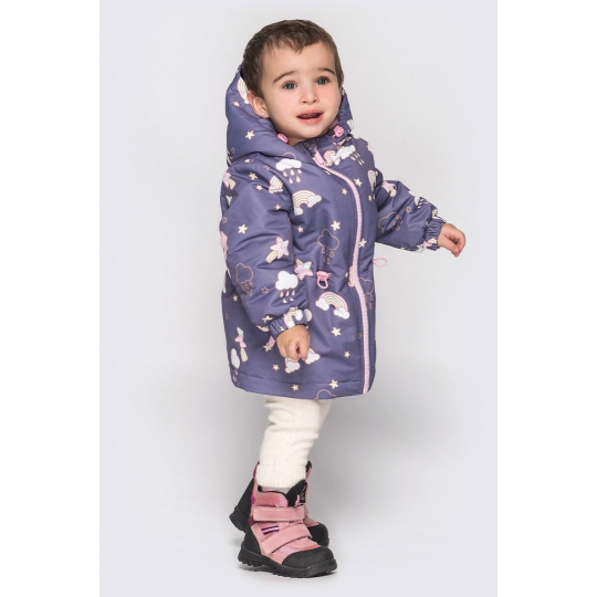 Куртка Эбби малыш серо фиолетовая