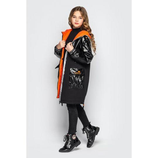 Куртка Наоми черно-оранжевая