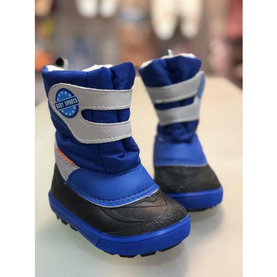 Cапоги зимние - дутики - сноубутсы для детей 1506b sports голубые