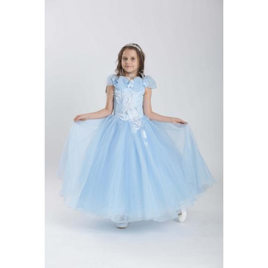 Карнавальный костюм Принцесса 11709 голубой блеск