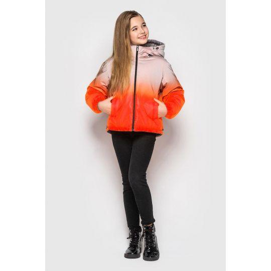 Куртка Кора оранжевая двухсторонняя