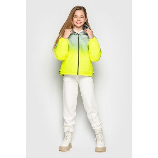 Куртка Кора желтая двухсторонняя