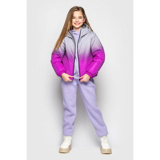 Куртка Кора фиолетовая двухсторонняя