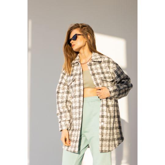 Сорочка-куртка Лакрица 6459 серая