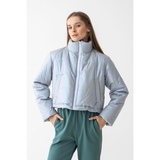 Куртка Лидэрия 6640 серо-голубая