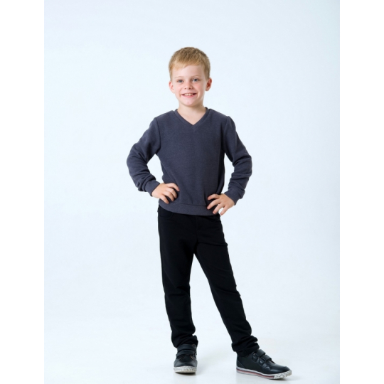 "Пуловер для мальчика 116438/116439 тёмно серый ""мысик"""