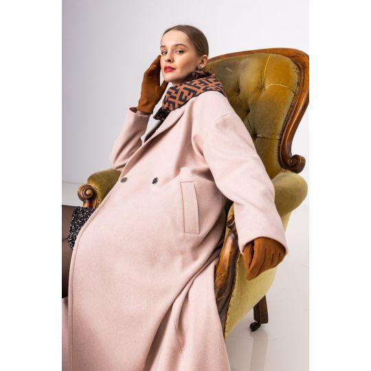 Пальто Рубения 6540 бежевая пудра