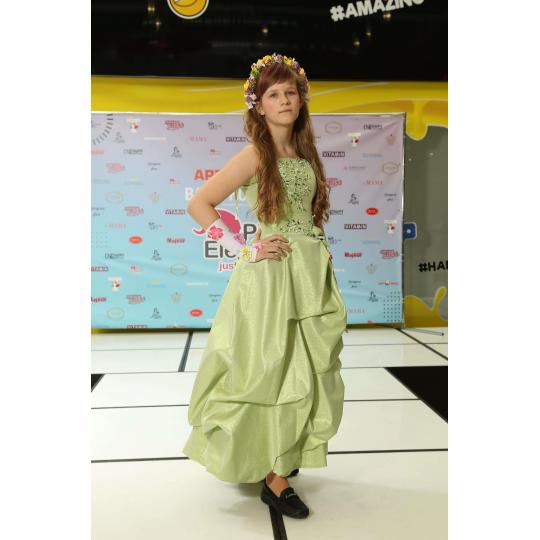Нарядное платье Парча зеленое