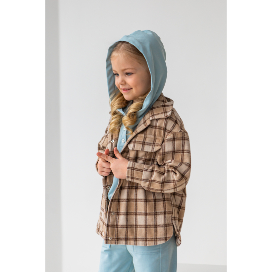 Сорочка-куртка Саян 6913 шоколадная