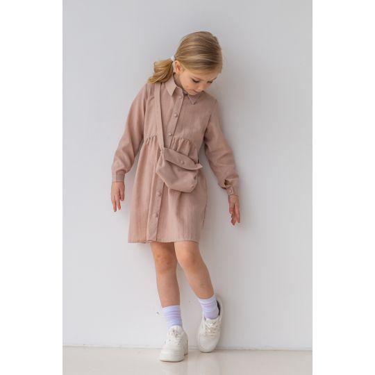 Платье Нандина 6821 бежевое