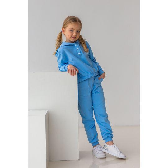 Спортивный костюм Алмея 6883 голубой