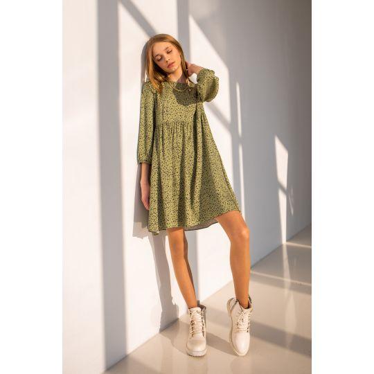 Платье Камелия 6811 оливковое