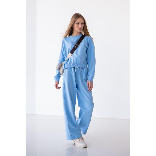 Спортивный костюм Китэра 6881 голубой