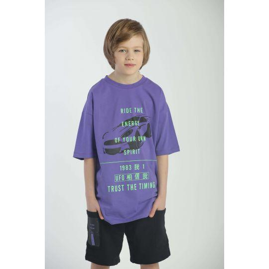 Футболка 3260 фиолетовая