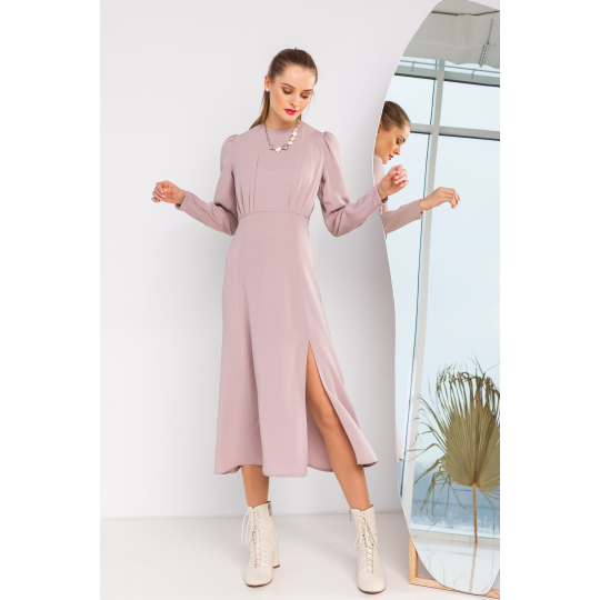 Платье Барисан 6927 серо-пудровое