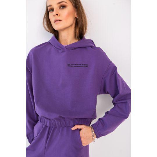 Худи Энвер 6659 темно фиолетовое