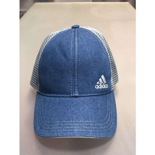 Блайзер кепка сетка №85 Adidas джинс