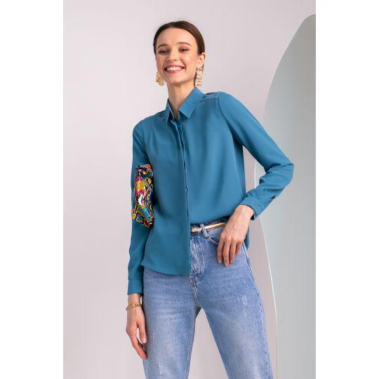 Блуза Сейфолла 7040 морская волна