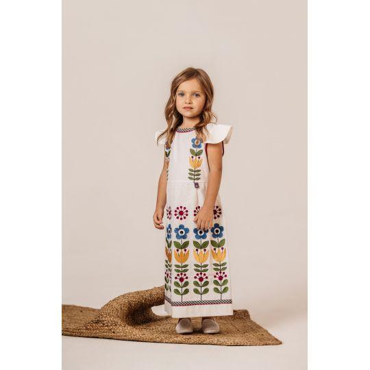Платье вышиванка Чичка Яркая удлиненное
