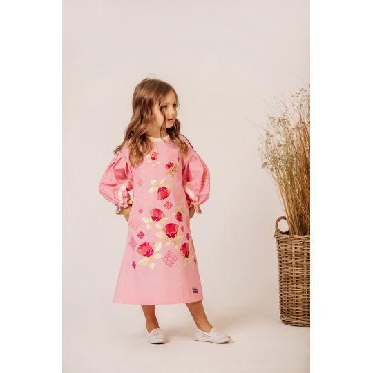 Платье вышиванка Роза удлиненное