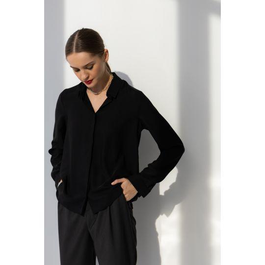 Блуза Сейфолла 6566 черная