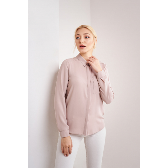 Блуза Солада 4804 нюдовая