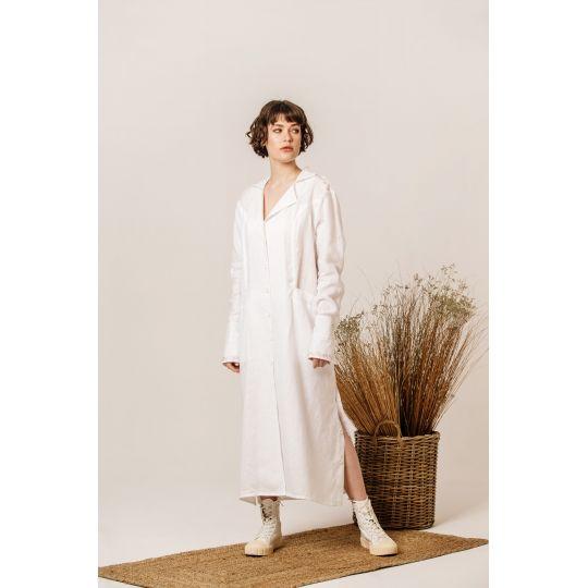 Платье вышиванка Оливия белое В
