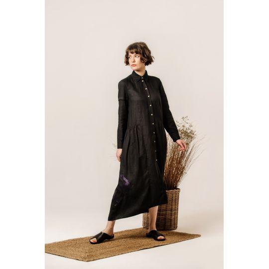 Платье вышиванка Адель черное В
