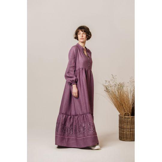 Платье вышиванка Маргарита виноградная В
