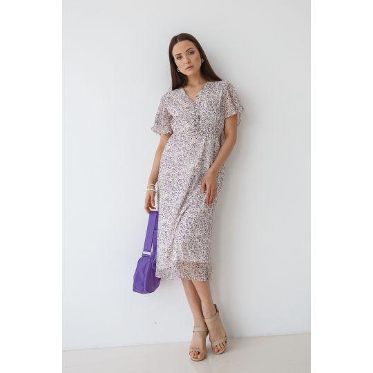 Платье Индэрия 7114 сиреневое