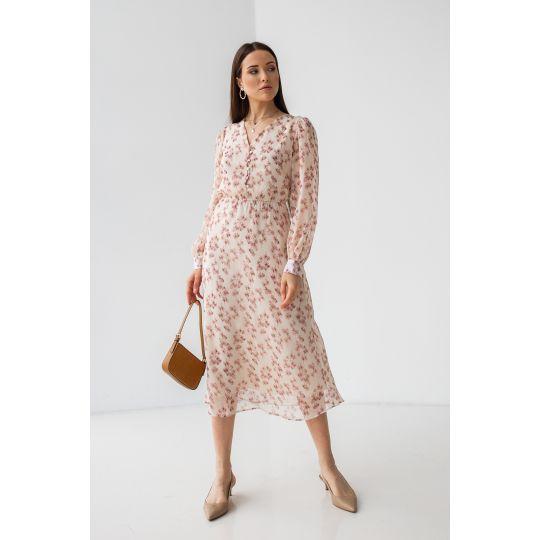 Платье Фолия 7210 светло бежевая