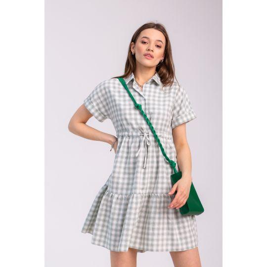 Платье Савина 7091 зеленое