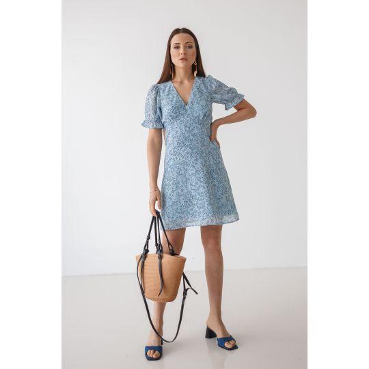 Платье Боннет 7109 голубое