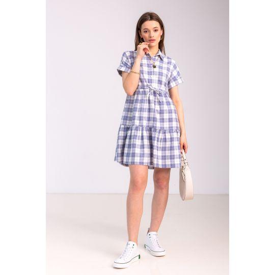 Платье Савина 7090 синее