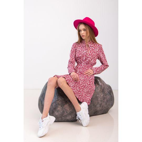 Платье Мариза 6974 малиновое