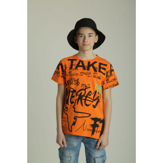 Футболка 5195-4 оранжевая