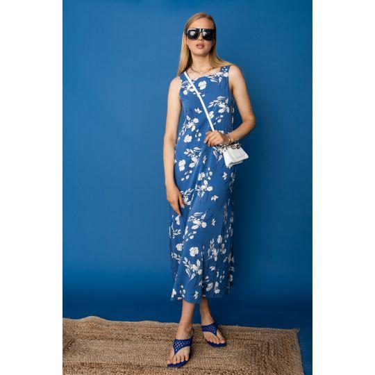 Платье Касалия 7410 васильковое