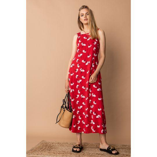 Платье Касалия 7411 красное