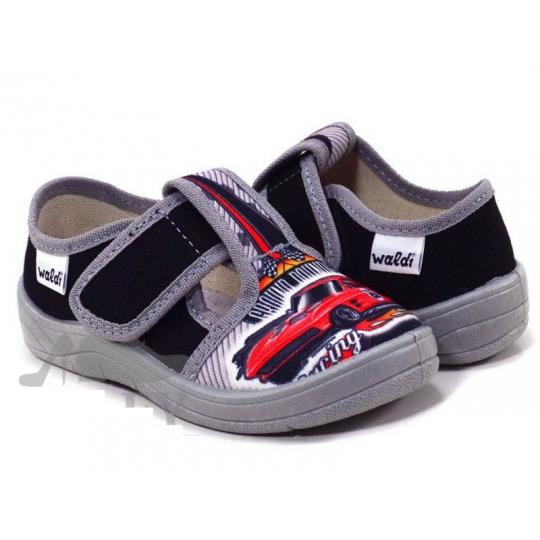 Туфли текстильные 360/51-176 Гриша черно-серые, машина