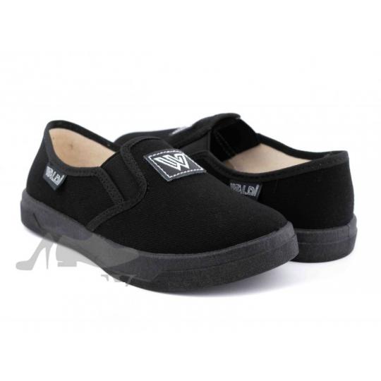 Туфли текстильные 51-495-2 Victor3/1 черные W черная подошва